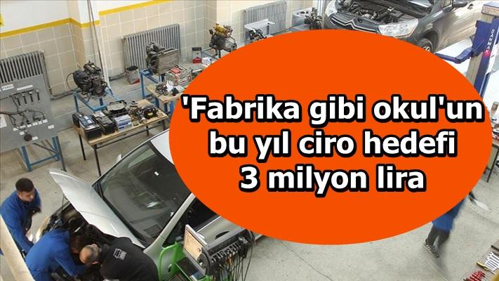 'Fabrika gibi okul'un bu yıl ciro hedefi 3 milyon lira