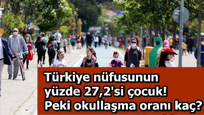 Türkiye nüfusunun yüzde 27,2'si çocuk! Peki okullaşma oranı kaç?