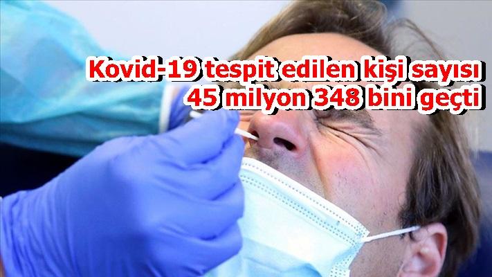 Kovid-19 tespit edilen kişi sayısı 45 milyon 348 bini geçti