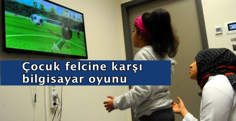 Çocuk felcine karşı bilgisayar oyunu!