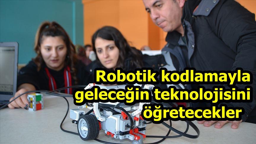 Robotik kodlamayla geleceğin teknolojisini öğretecekler