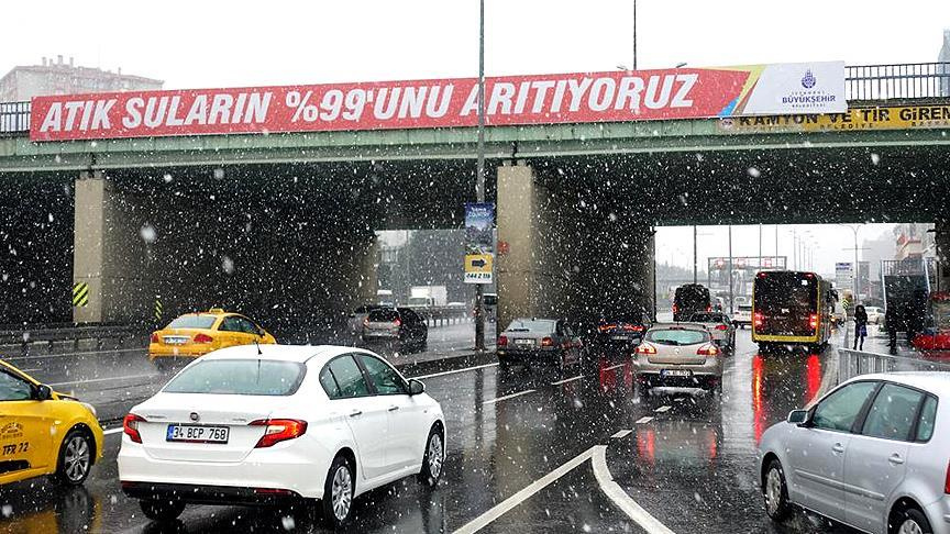 İstanbul'da kar yağışı!
