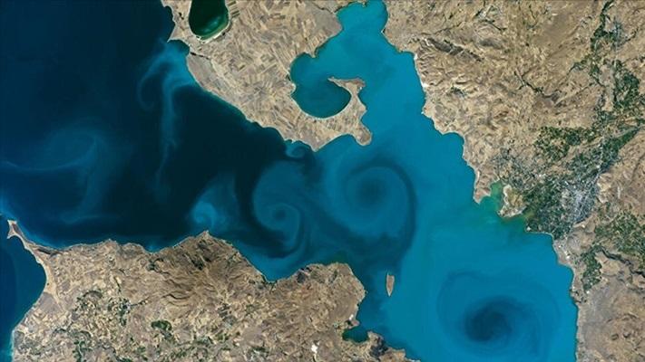 Van Gölü'nün uzaydan çekilen fotoğrafı NASA'nın favorileri arasında