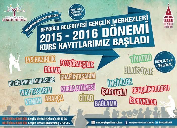 Beyoğlu Belediyesi Gençlik Merkezi'nin Kurs Kayıtları Başladı