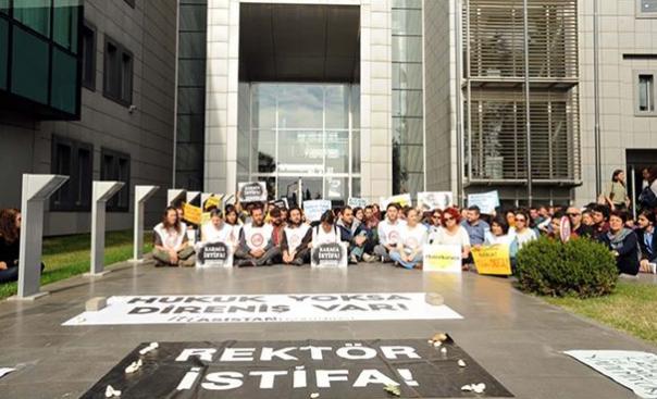 İTÜ'de 'asistan' eylemi
