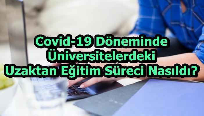 Covid-19 Döneminde Üniversitelerdeki Uzaktan Eğitim Süreci Nasıldı?