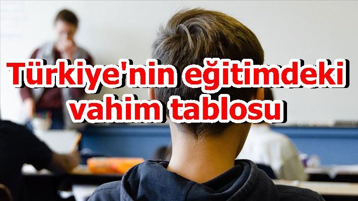 Türkiye'nin eğitimdeki vahim tablosu