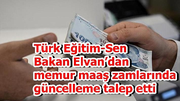 Türk Eğitim-Sen Bakan Elvan'dan memur maaş zamlarında güncelleme talep etti