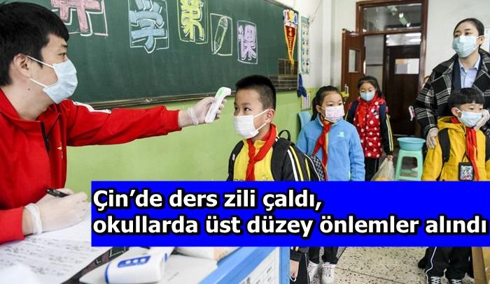 Çin'de ders zili çaldı, okullarda üst düzey önlemler alındı