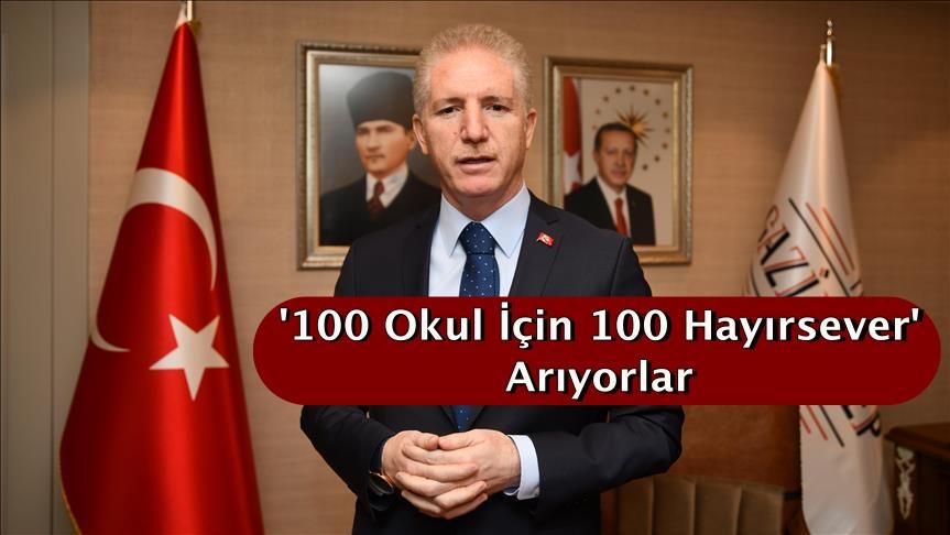 '100 okul için 100 hayırsever' arıyorlar