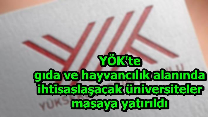 YÖK'te gıda ve hayvancılık alanında ihtisaslaşacak üniversiteler masaya yatırıldı
