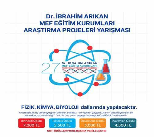 DR. İBRAHİM ARIKAN ULUSLARARASI ARAŞTIRMA PROJELERİ YARIŞMASI BAŞLIYOR