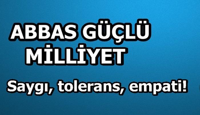 Saygı, tolerans, empati!