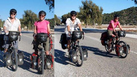 Öğretmen çiftin bisikletle dünya turu