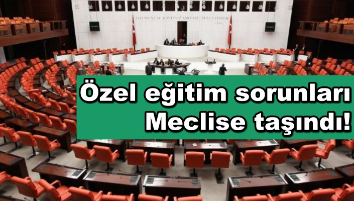 Özel eğitim sorunları Meclise taşındı!