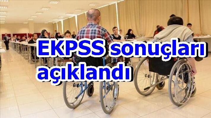 EKPSS sonuçları açıklandı