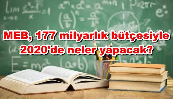 MEB 177 milyarlık bütçesiyle 2020'de neler yapacak?