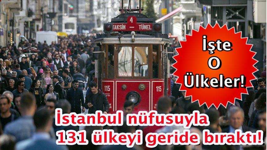 İstanbul nüfusuyla 131 ülkeyi geride bıraktı! İşte o ülkeler!