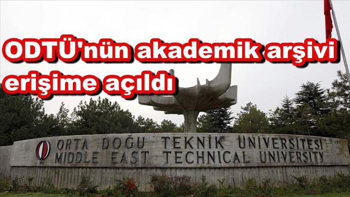 ODTÜ'nün akademik arşivi erişime açıldı