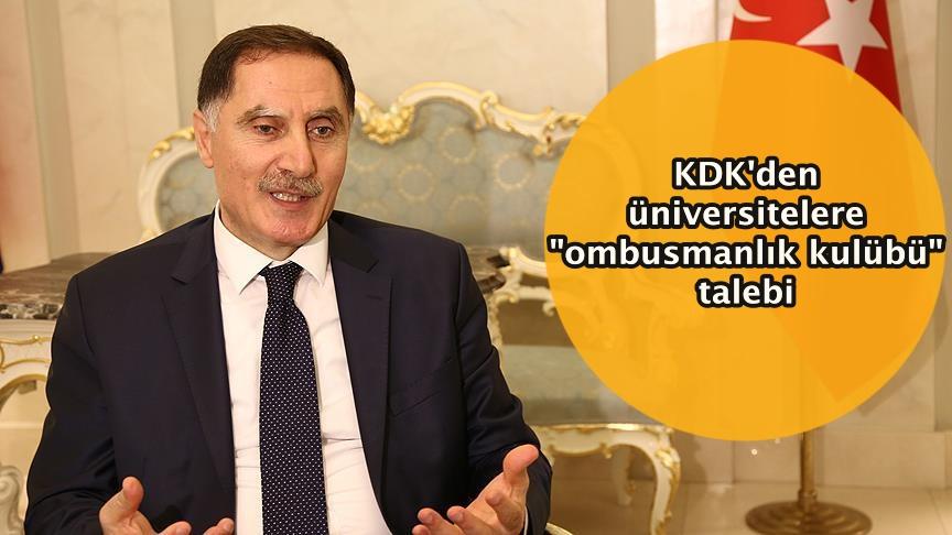 """KDK'den üniversitelere """"ombusmanlık kulübü"""" talebi"""