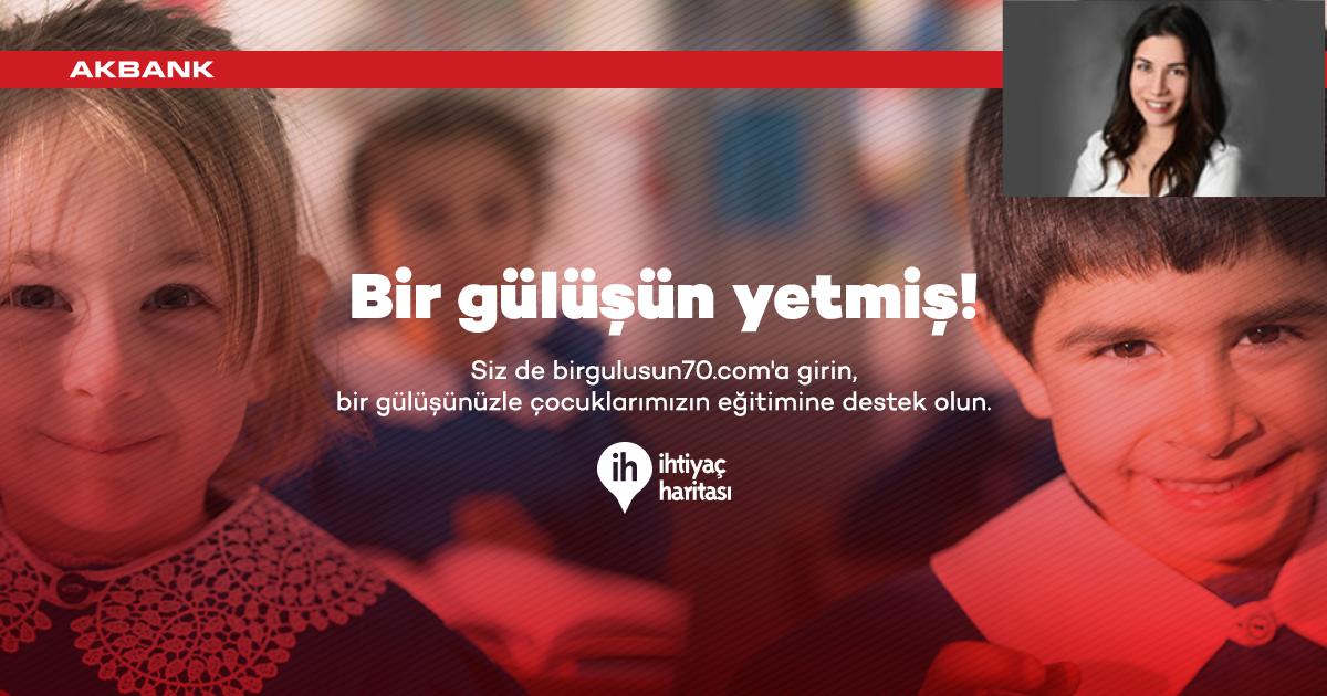 """EĞİTİM İÇİN """"BİR GÜLÜŞÜN YETMİŞ""""!"""