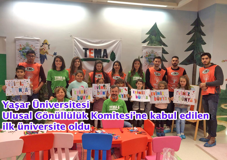 Yaşar Üniversitesi Ulusal Gönüllülük Komitesi'ne kabul edilen ilk üniversite oldu