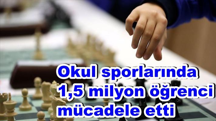Okul sporlarında 1,5 milyon öğrenci mücadele etti