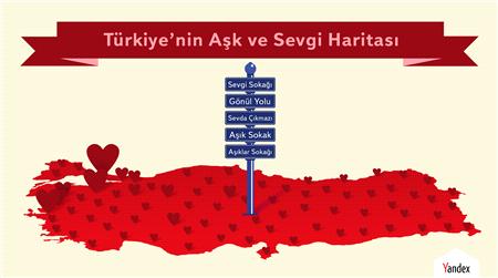 Yandex Türkiye'nin Aşk ve Sevgi Haritasını Çıkardı