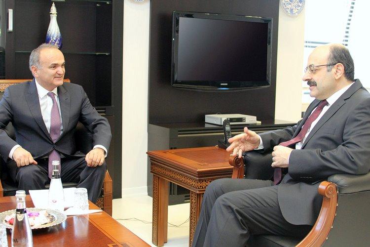 Bilim, Sanayi ve Teknoloji Bakanı Özlü'den YÖK Başkanına ziyaret