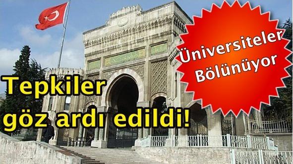 Üniversite tasarısının ilk bölümü kabul edildi