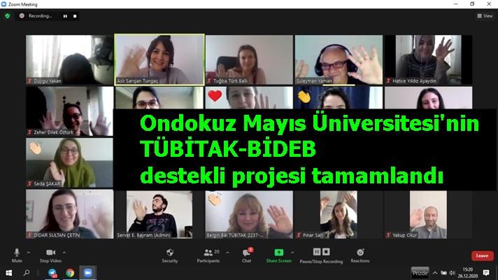 Ondokuz Mayıs Üniversitesi'nin TÜBİTAK-BİDEB destekli projesi tamamlandı