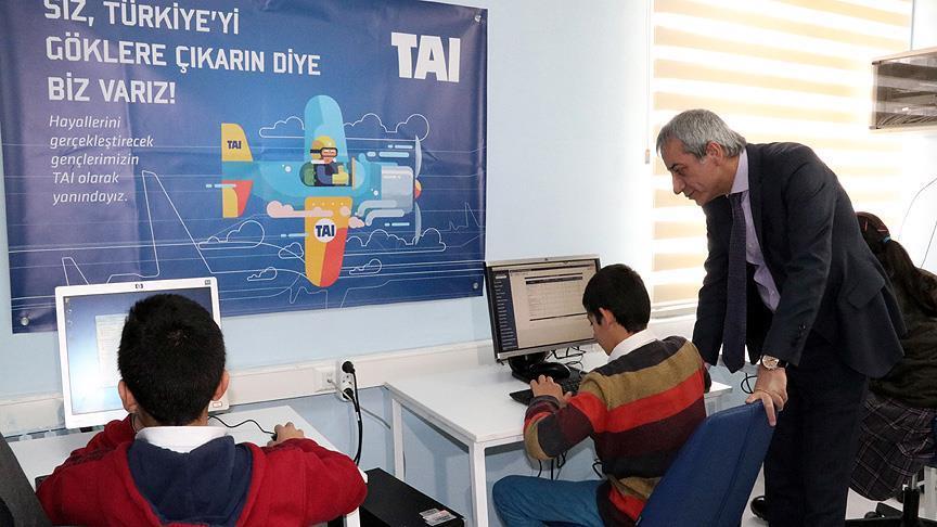 TAI'den 5 köy okuluna laboratuvar ve eğitim desteği