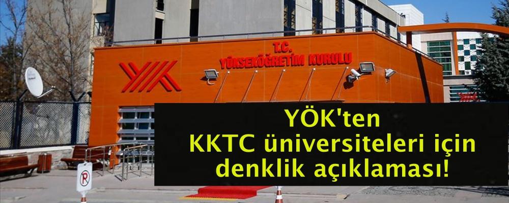 YÖK'ten KKTC üniversiteleri için denklik açıklaması!