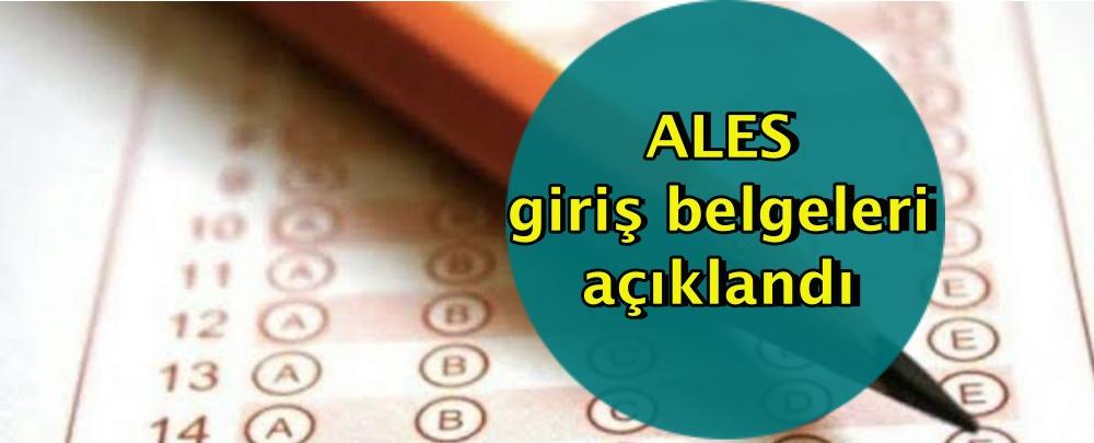 ALES giriş belgeleri açıklandı
