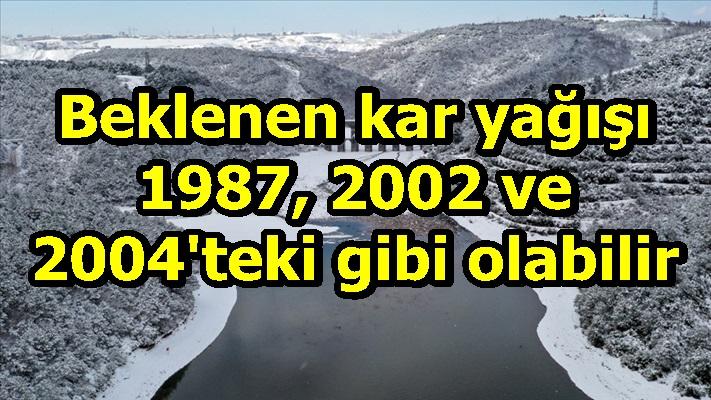 Türkiye'de beklenen kar yağışı 1987, 2002 ve 2004'teki gibi olabilir