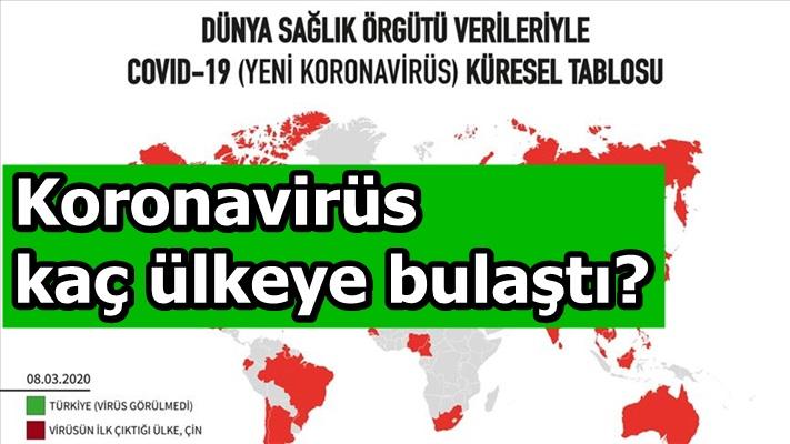 Koronavirüs kaç ülkeye bulaştı?