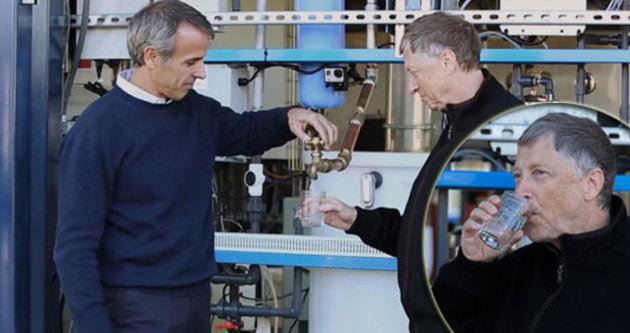 Bill Gates İnsan Dışkısından Su İçti!