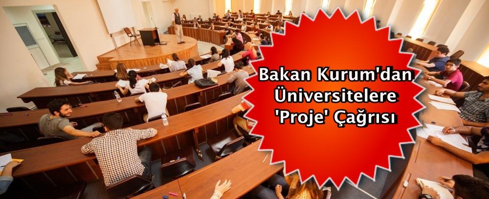 Bakan Kurum'dan üniversitelere 'proje' çağrısı