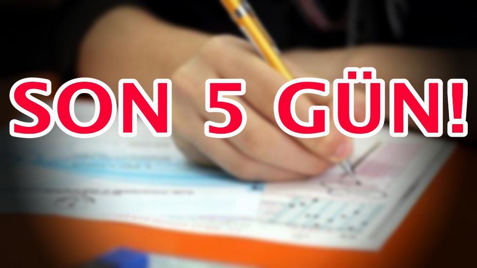 Liselere giriş sınavı için geri sayım!