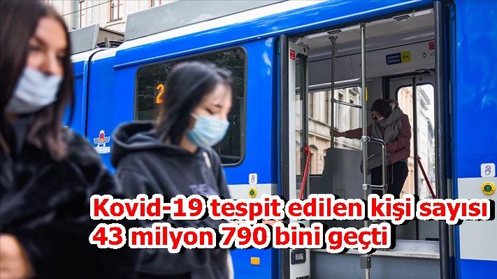 Kovid-19 tespit edilen kişi sayısı 43 milyon 790 bini geçti
