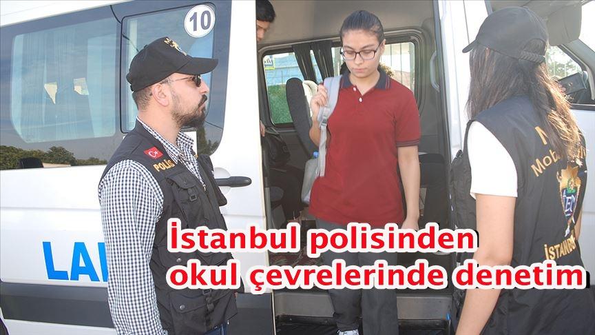 İstanbul polisinden okul çevrelerinde denetim