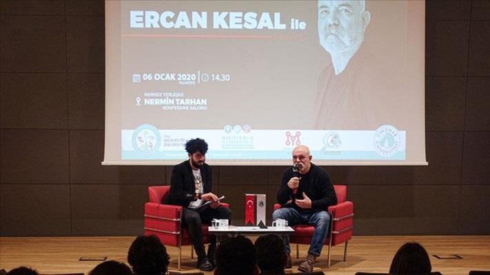 Oyuncu ve yazar Ercan Kesal öğrencilerle bir araya geldi