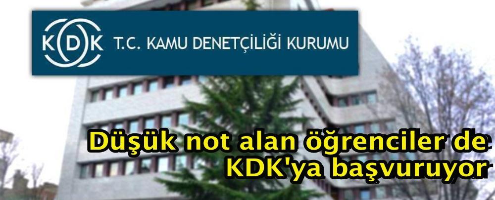 Düşük not alan öğrenciler de KDK'ya başvuruyor