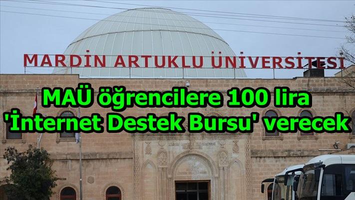 MAÜ öğrencilere 100 lira 'İnternet Destek Bursu' verecek