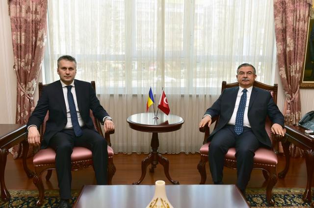 Romanya Büyükelçisi Sopanda'dan Bakan Yılmaz'a ziyaret
