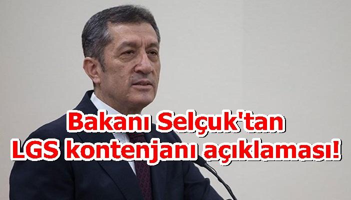 Bakanı Selçuk'tan LGS kontenjanı açıklaması