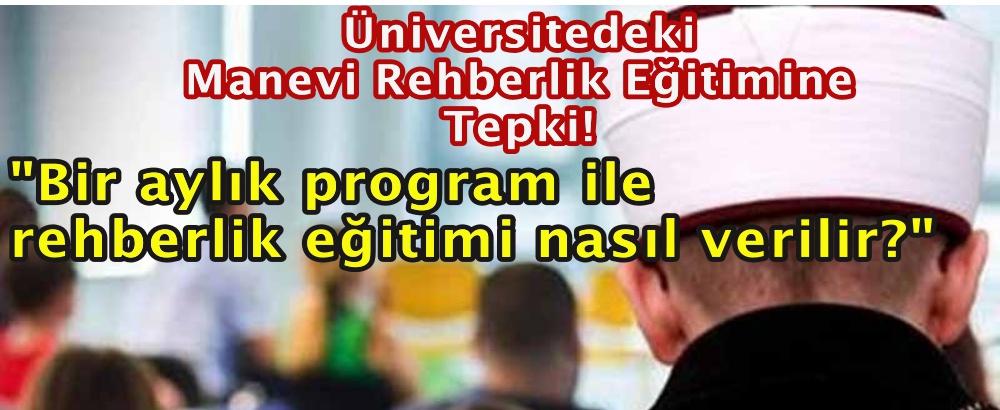 Üniversitedeki Manevi Rehberlik Eğitimine Eğitim Sen'den Tepki!