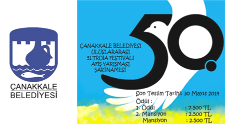 Çanakkale belediyesi Uluslararası 51. Troia Festivali Afiş Yarışması