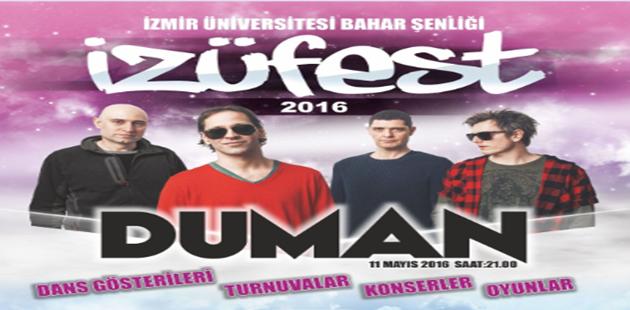 İzmir Üniversitesinin Bahar Şenliğinde 'Duman' rüzgârı esecek