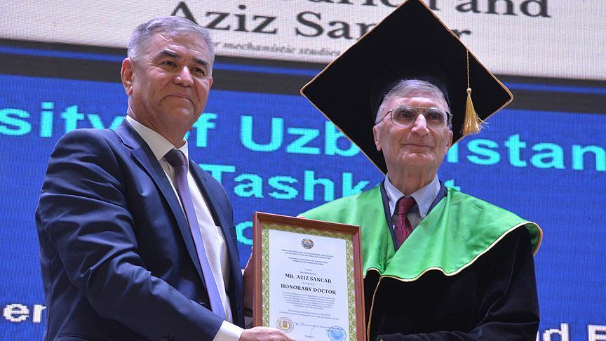 Nobel ödüllü Sancar'a Özbekistan'da fahri doktora